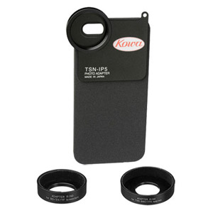 Kowa Photo Adapter for iPhone 5 Standard Set (includes adapter rings for BD4232, SV series, YF serie TSN-IP5