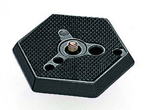 "Manfrotto Hexagonal Replacement Quick Release Plate 1/4"" 030-14"