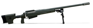 "McMillan RH Tac 50-A1 BMG 29"" barrel olive with bipod and one mag"