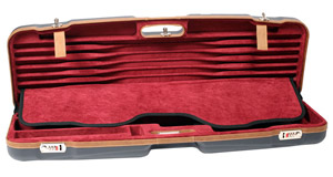 "Negrini Sporting 33.7"" Case Blue/Bordeaux/Brown Trim 1622LX-TS/5228"
