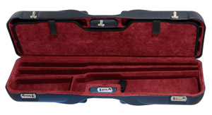 "Negrini One Shotgun Four Bbl 34-5/8"" Case Blue/Bordeaux 1646LR-4C/5229"