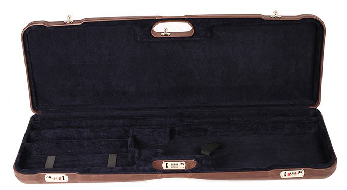 "Negrini One Shotgun Two Barrels 36.5"" Case Leather/Blue 1653PL/5039"