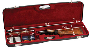"Negrini One Shotgun 36"" High Rib Case Black/Bordeaux 1657LR/5163"