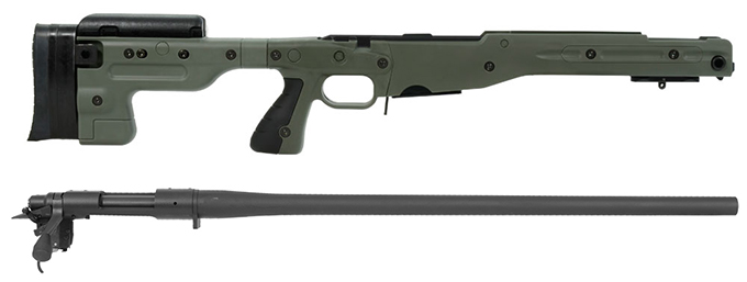 Remington 700P 5R 308 Win with Accuracy International AT Green Fixed Chassis