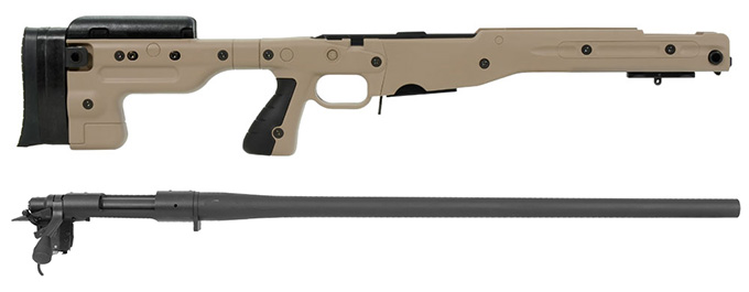 Remington 700P 5R 308 Win with Accuracy International AT Pale Brown Fixed Chassis
