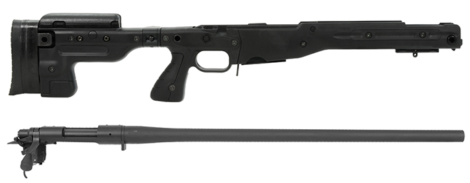 Remington 700P 5R 308 Win with Accuracy International AT Black Folding Chassis