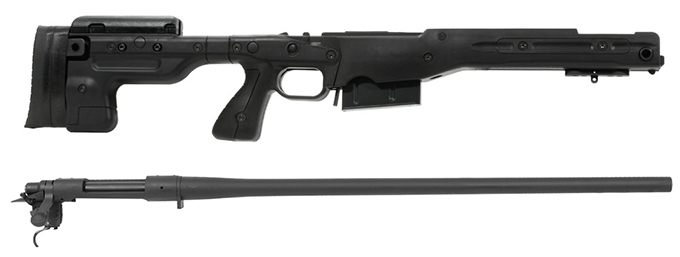 Remington 700P 5R 300 Win Mag with Accuracy International AT Black Fixed Chassis