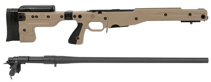 Remington 700P 5R 308 Win with Accuracy International AT Pale Brown Folding Chassis