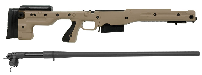 Remington 700P 5R 300 Win Mag with Accuracy International AT Pale Brown Fixed Chassis