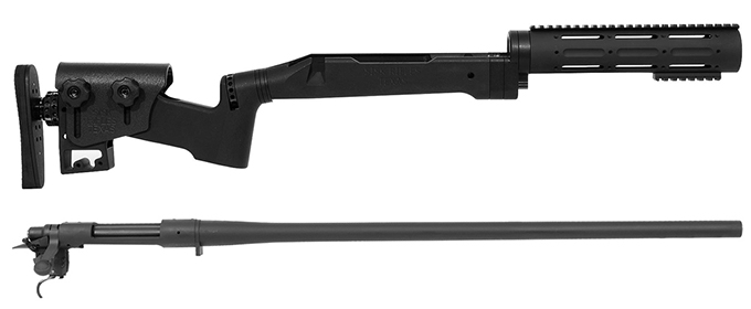 Remington 700P 5R 300 Win Mag with Sisk STAR AR Stock