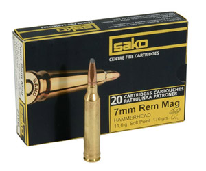 Sako 7mm Rem Mag 170gr Hammerhead Rifle Ammunition