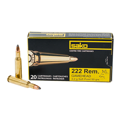 Sako 222 Rem 50 gr SPEEDHEAD Rifle Ammunition - 20 per box P609005G