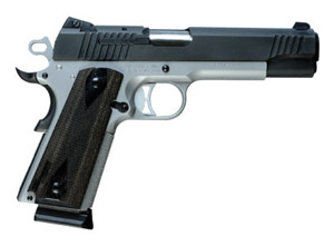 Reverse Two-Tone Finish, Low Profile Night Sights, Hogue Blackwood Grips 1911T-45-RTSS