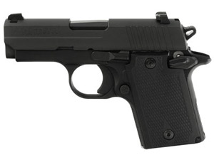 Sig Sauer Black Nitron Finish, SLITE Night Sights, Polymer Grips 938-9-BSS-AMBI 938-9-BSS-AMBI