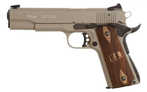 Flat Dark Earth Finish, Low Profile Contrast Sights, Wood Grips 1911-22-FDE