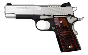 C3, Alloy Frame, Two-Tone Finish, Low Profile Contrast Sights, Wood Grips 1911CO-45-T-C3