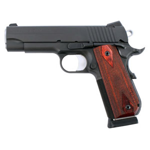 Black Nitron Finish, Fastback Rounded Frame, LoPro Night Sights, Rosewood Grips 1911FCA-45-BSS