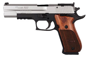 SUPER MATCH, 2-Tone, Beavertail, SAO Trigger, Adjustable Sights, Wood Grips, Test Target 220BR5-45-TAS-SUP