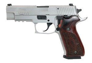 STAINLESS ELITE, All Stainless, Beavertail, SRT, SLITE Night Sights, Wood Grips 220R-45-SSE