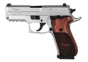 STAINLESS ELITE, All Stainless, Beavertail, SRT, SLITE Night Sights, Wood Grips 220R3-45-SSE