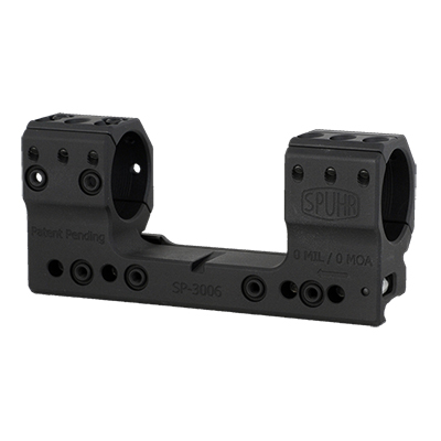 Spuhr Unimounts 30 mm, Height: 34 mm/1,35?, Length: 126 mm/4,96? 0 MIL/0 MOA SP-3006