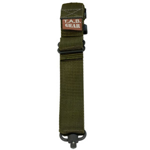 TAB Rifle Sling with Flush Cups - OD Green