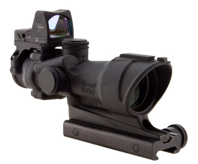 Trijicon TA01NSN-RMR ACOG 4x32 Center Illum Amber Crosshair 223 Ballistic Reticle w/ 4.0 MOA RMR, TA - Trijicon ACOG